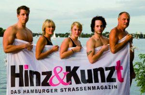 Das Alsterschwimmteam: Bastian Kampmann, Heidi Fischer-Klages, Johanna Düster, Fabian Zühlsdorff, Joachim Düster