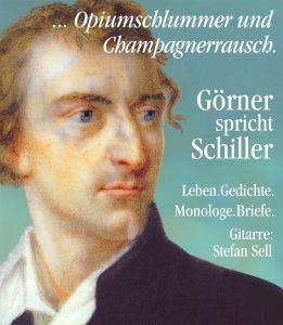 Plakat zu Lutz Görners Schiller-Tour