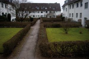 Die Wohnblocks der Wulffschen Siedlung entstanden in den 40er- und 50er-Jahren. Nun soll hier  alles abgerissen und neu gebaut werden.
