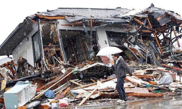 Liegt in Trümmern: Die japanische Stadt Sendai. Foto: Reuters