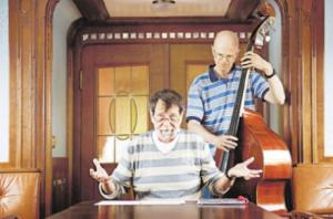 Der Vorleser und der Kontrabassist: Gudo Mattiat und Thomas Rutt im Salon der Schaarhörn
