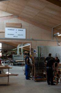 Die Kieler Werkstatt. Die Männer werden von anderen Betreiben oft mit Kusshand genommen.