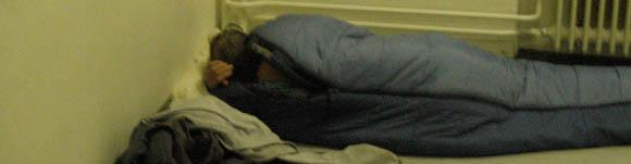 Im Pik As wird jedes Fleckchen Platz zur Schlafstatt