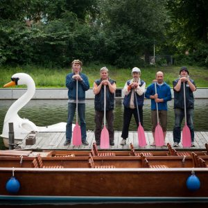 Alle Mann an Bord: Hinz&Küntzler Erich, Rüdiger, Jan, Torsten und Gerhard.