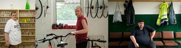 Arno Beuchel managt das Sozialkaufhaus Sammelsurium, Jürgen Anklam bringt in der Fahrradwerkstatt der AIW alte Drahtesel auf Vordermann. Goran Nikolic ist als 16e-Kraft in der Grünpflege beschäftigt