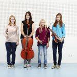 Vor Ort an der Staatlichen Jugendmusikschule waren (v.li.) Anna Straßberger, Lotta Nymmerga, Rabeau Cramer und Marie Pfafferptt.