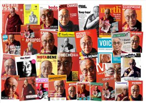 Der Dalai Lama im Interview exklusiv für die Straßenzeitungen. Mit den Ausgaben verdienten Straßenzeitungsverkäufer im vergangenen Jahr mehr als eine Million Dollar. Foto: INSP