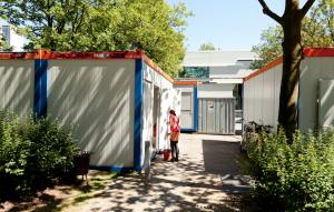 Dank einer Spende können die Container an der HAW auch im Sommer bewohnt werden. Foto: Hannah Schuh