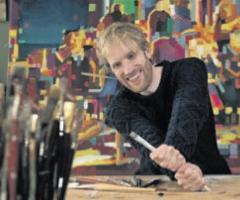 Der Maler Felix Eckardt. Foto: Mauricio Bustamante