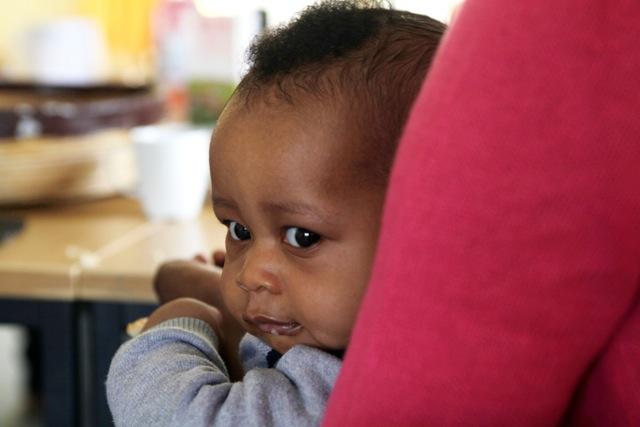 Alles für´s Baby: Im Müttercafé in der Wohnunterkunft Mattkamp finden junge Mamas Hilfe bei der Sorge um ihre Kinder