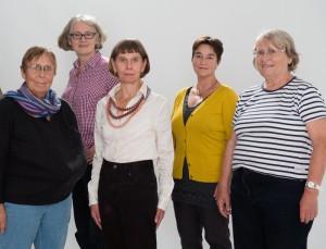 Frauenpower für Hinz&Kunzt (von links): Die Ehrenamtlichen Ingrid  Dujesiefken, Maria Rochell, Marina Krog, Conja Reuter und Marlies Heyne-Reimer.