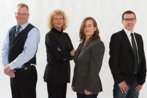 Geballtes Fachwissen (von links): die Anwälte Jörn Wommelsdorff, Silke von Leitner, Kirsten Michaelsen und Arne Städe. Es fehlt: Karen Schueler-Albrecht.