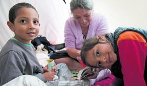 """Auch die Kinder der Nikolovs mussten zunächst unter der Brücke schlafen. """"Wir haben keine Unterkünfte für Familien"""", so Obdachlosen-Berater  Andreas Stasiewicz. """"Im Winternotprogramm werden Kinder getrennt von den Eltern untergebracht."""""""
