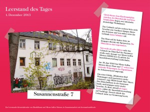 Leerstand des Tages zum Start des Online-Adventskalenders: ein Haus in der Susannenstraße 7