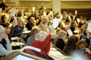 Abstimmung im Spendenparlament über Projektförderungen: unbürokratisch und demokratisch