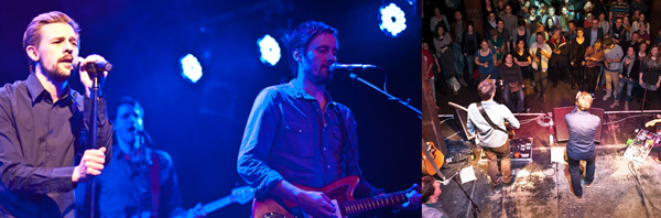 Zwei Freunde, die jetzt auch als Band zusammen unterwegs sind: Klaas Heufer-Umlauf (links) und Mark Tavassol haben im November auf dem Hinz&Kunzt-Geburtstagsfest in der Fabrik gespielt.