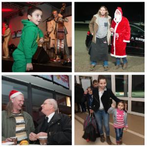 Richtig gute Stimmung: Nicht nur Dennis tanzt zu den Rockhouse Brothers. Musiker Ingo Pohlmann klönt mit dem Weihnachtsmann. Die Hinz&Künztler amüsieren sich. Und tschüss heißt hoffentlich: Auf Wiedersehen im nächsten Jahr!