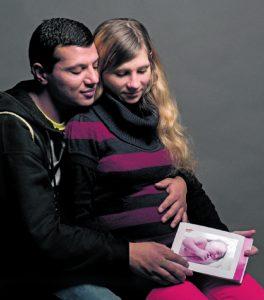 Vorläufiges HAPPY END: Das Rote Kreuz hat Kristine, Ruslans und die kleine Miranda aufgenommen.