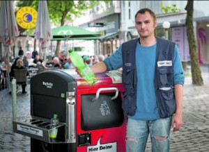Hinz&Künztler Sascha hatte  die Debatte über die neuen  Mülleimer angestoßen.