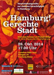 Am Beispiel von Flüchtlingsaktionen aus Hamburg und Berlin wir über neue Formen des Protests diskutiert.