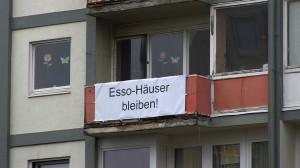 Bewohner  Protest gegen den Abriss