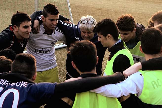 Die Spieler von Amads Fußballmannschaft bei der TSG Bergedorf UMRINGEN Amad Mohammad.